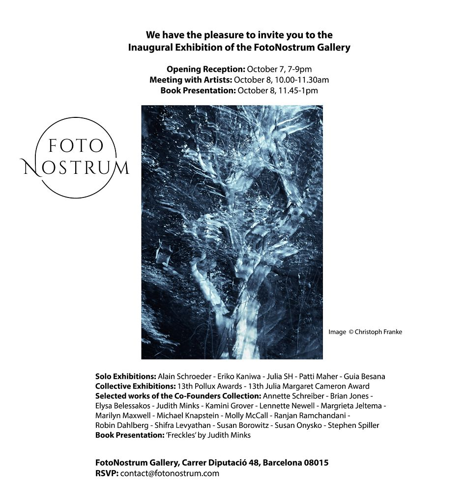 IInvitation to FotoNostrum Gallery in Barcelona, Oct 7th 2019