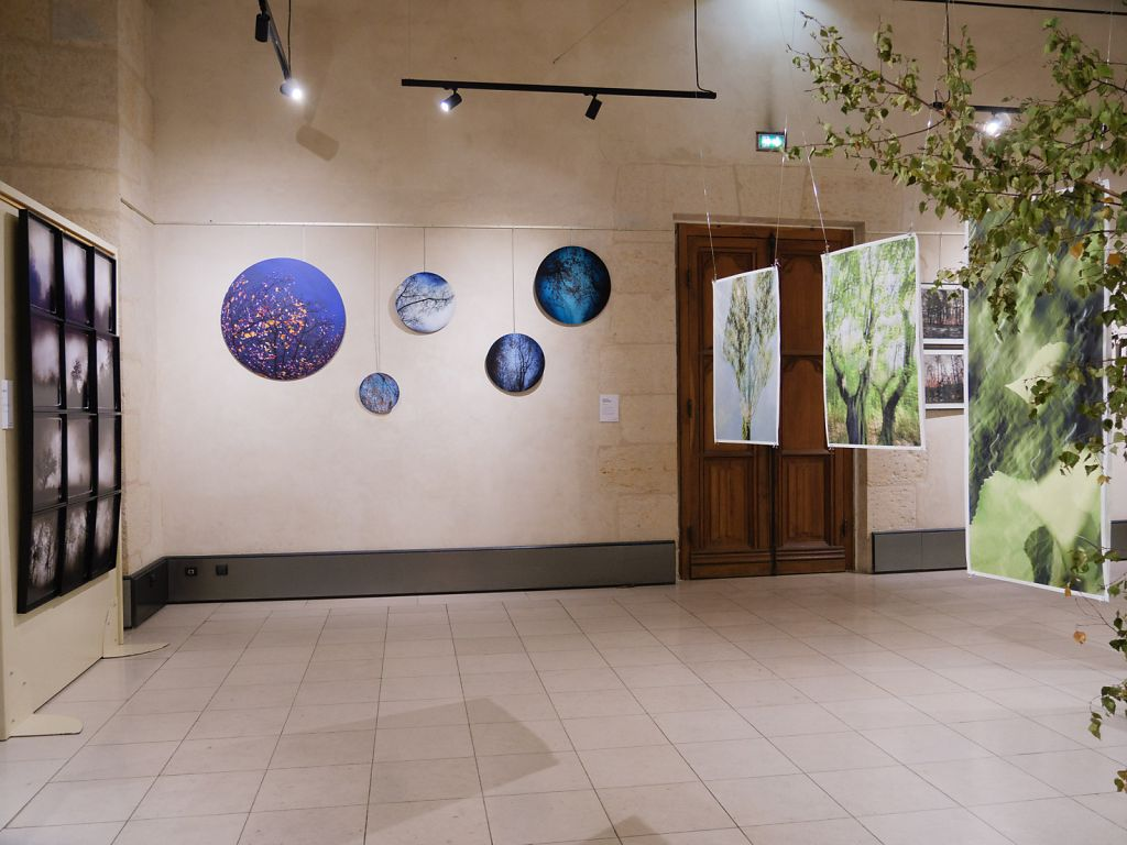 View into the exhibition, on the left the work of fellow artists LiLiRoze and Simona Bonnano