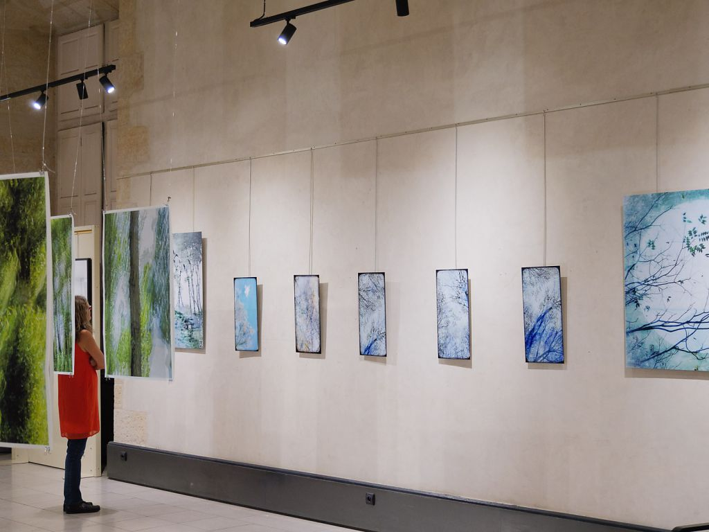 View into the exhibition, on the right the work of fellow artist Frédérique Bouet