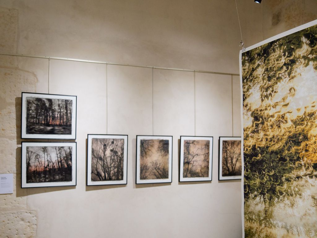 View into the exhibition, on the left the work of fellow artist Corinne Heraud
