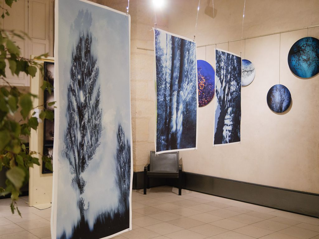 View into the exhibition, on the right the work of fellow artist Simona Bonnano